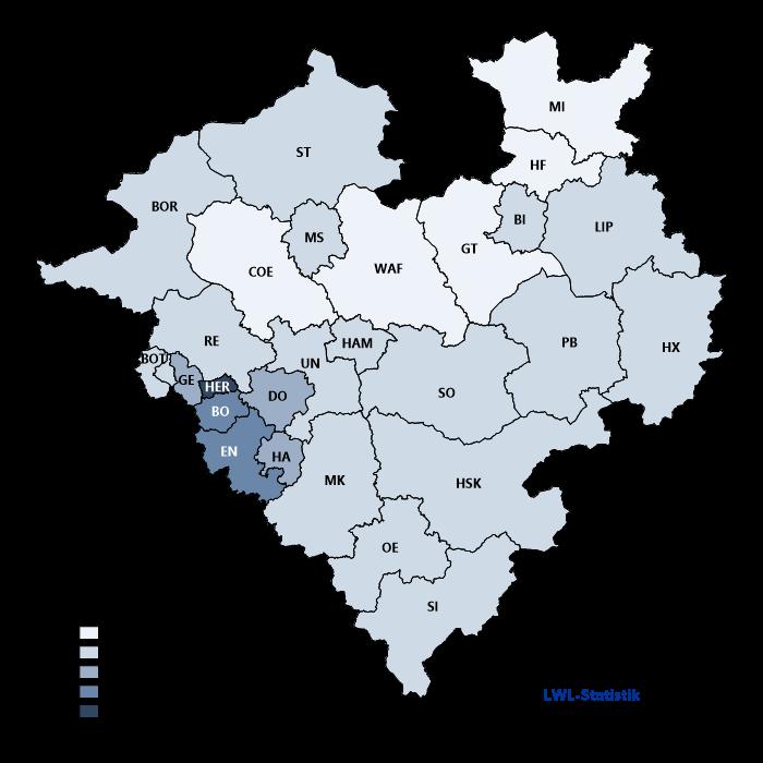 Beschäftigungsquote schwerbehinderter Menschen in Westfalen-Lippe