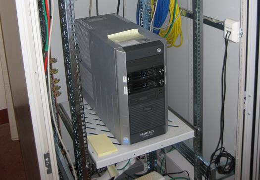 Serverraum im 1. OG