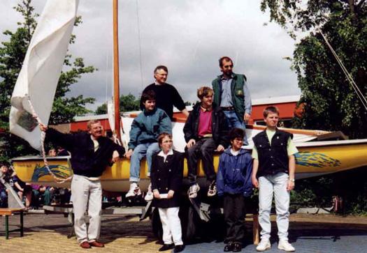 Schiffstaufe auf dem Schulhof