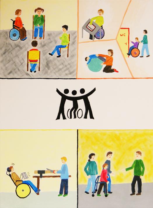Die Leitlinien der Schule als Bild