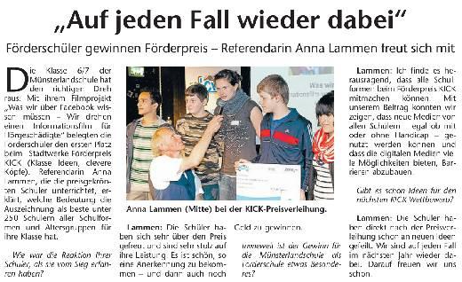 aus den Stadtwerke Nachrichten vom 23. Juni 2012
