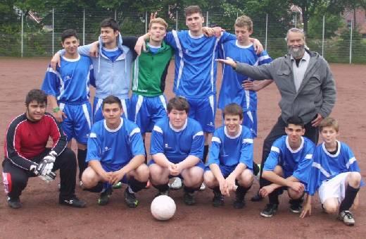 Die siegreiche Mannschaft der Münsterlandschule