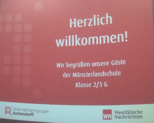 Die Begrüßung im Druckhaus des Aschendorff-Verlages