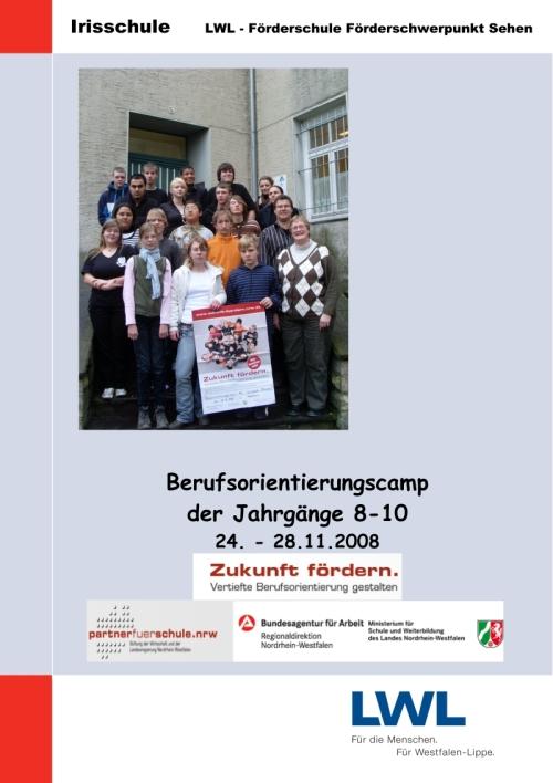 Titelseite zum Berufsorientierungscamp
