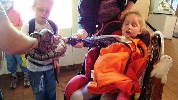 Foto der Vorschulgruppe im Reptilienhaus