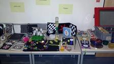 Foto der Ausstellung des Fördermaterials