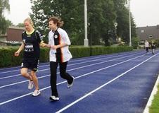 Foto von Antonia beim 800m-Lauf