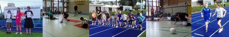 Schüler bei verschiedenen Sportveranstaltungen