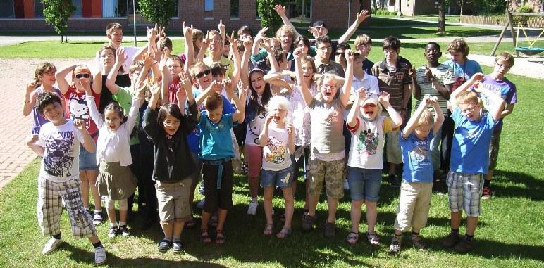 Foto der Schülerinnen uned Schüler der Irisschule
