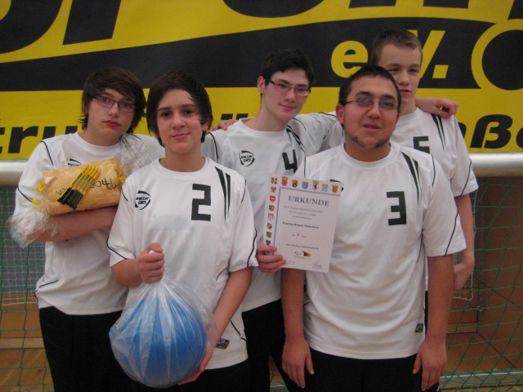 Unser Team bei der Siegerehrung