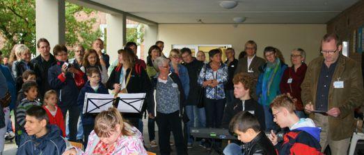 Das Schülerorchester eröffnet den Tag der offenen Tür