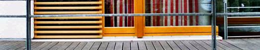 Bildausschnitt von Fenster und Balkon, Foto: LWL/Dieter Schwarzhans