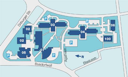 Wegeplan der Klinik