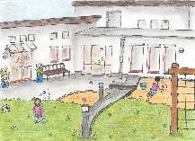 Zeichnung der LWL-Tagesklinik Meschede