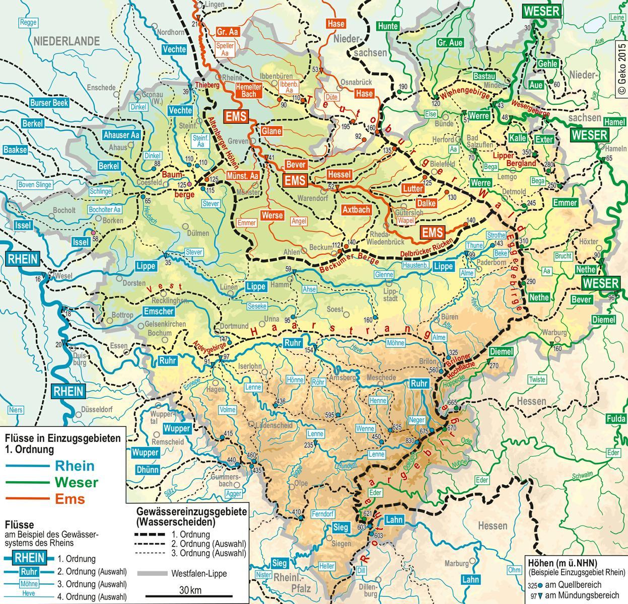 Lwl Naturliche Fliessgewasser In Westfalen Westfalen Regional