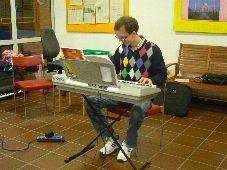 Meinolf am Keyboard