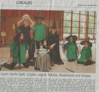 Der Tanztreff in der Lokalzeitung