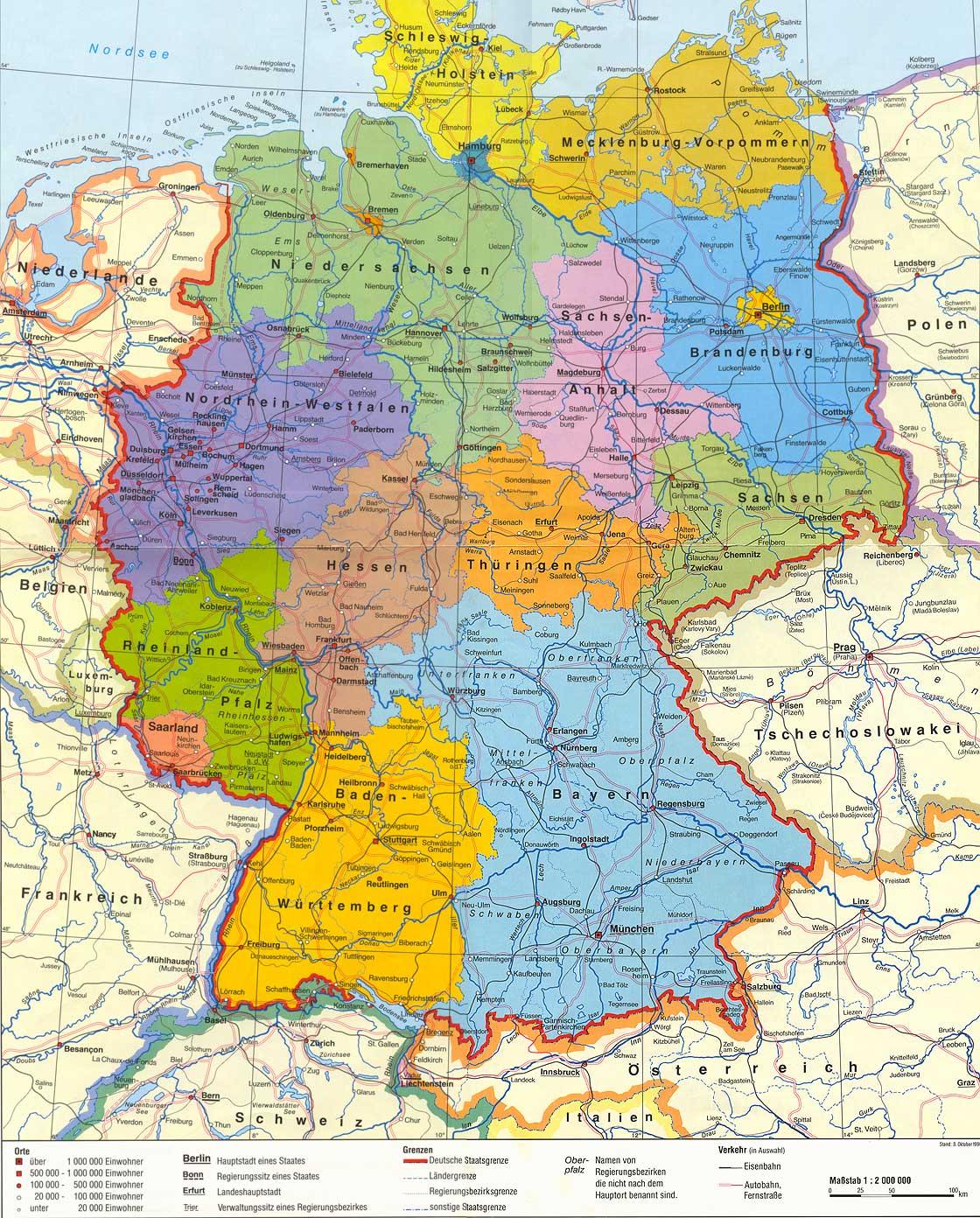 Deutchland Karte