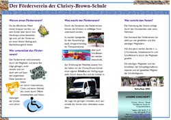 Flyer F�rderverein innen