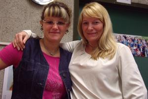Frau Weiß und Frau Schlömer, unsere Sekretärinnen