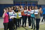 Schüler aus Frankreich mit dem CBS-Kalender