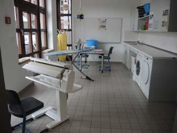 Der Wäscheraum der Christy-Brown-Schule