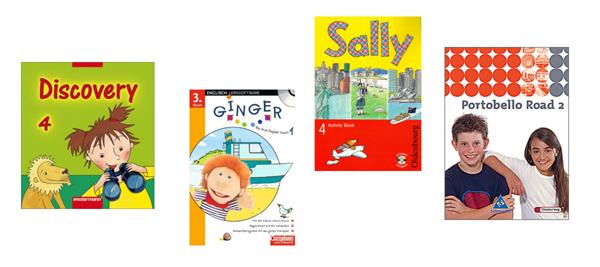 Cover von Schulbüchern für den Englischunterricht