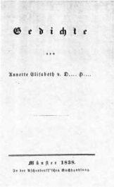 Gedichtausgabe 1838, Titelblatt.