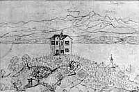 Fürstenhäusle, Bleistift- und Federzeichnung, 1846.