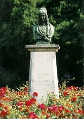 Droste-bust in the park of Schloß Hülshoff