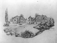 Haus Abbenburg, Zeichnung.