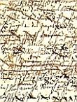 Manuskript-Ausschnitt