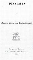 Titelblatt der Gedichtausgabe 1844