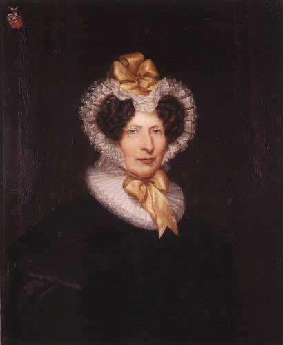 Hülshoff geb von haxthausen mutter der droste ölbild um 1830