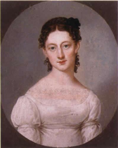 Jenny von droste hülshoff schwester der droste ölbild um 1820