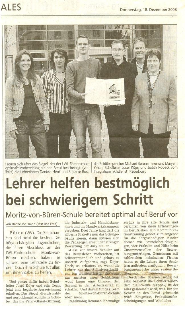 Artikel aus dem Westfalen-Blatt