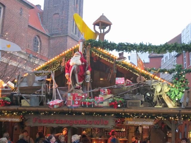Stände auf dem Weihnachtsmarkt
