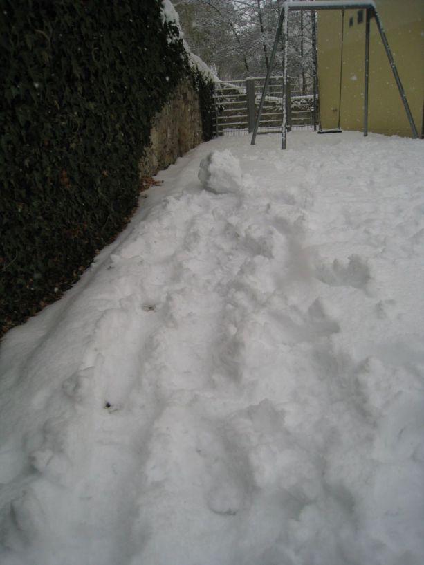 So ungefähr fängt jeder Schneemann an.