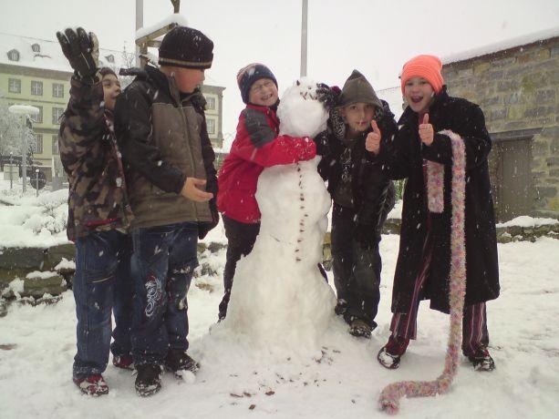 Wir lieben unseren Schneemann!