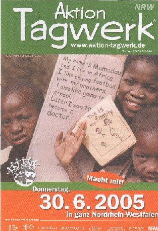 Faltblatt zur Aktion Tagwerk