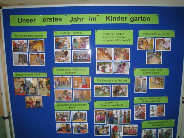 Im Kindergarten konnten die Aktivitäten des ersten Jahres auf Schautafeln nachvollzogen werden.