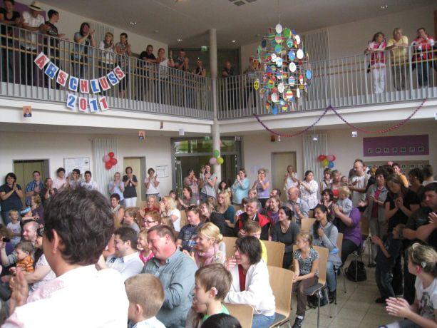 Bei den Vorführungen in der Aula war der Besucherandrang besonders groß.