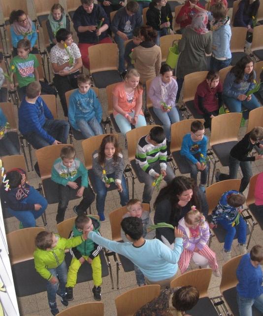 Schüler in der Aula