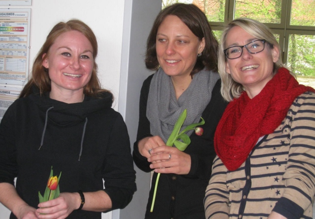 drei Kolleginnen der Schule
