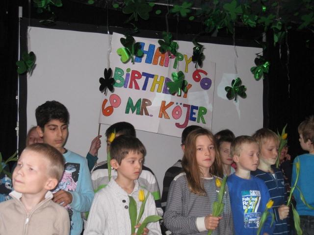 Schüler auf der Bühne