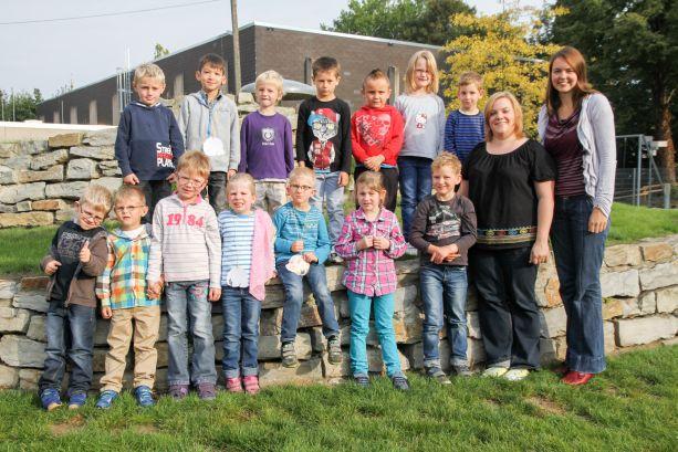 Und hier sie alle zusammen – unsere 14 Neuen aus Klasse 1. (Bild vom Westfalenblatt)