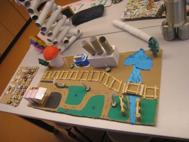 Das Modell eines Stadtplaners