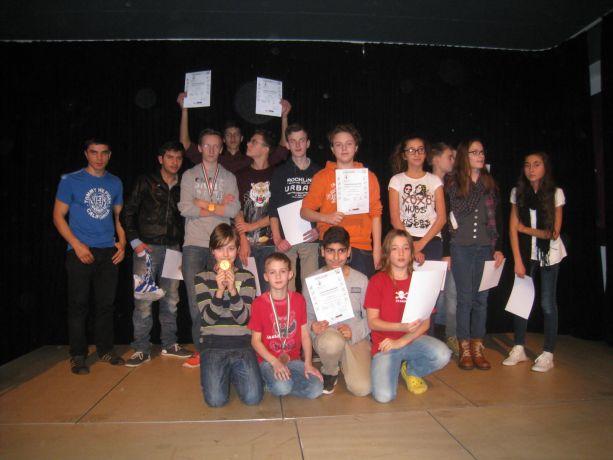 Es gab zahlreiche Medaillen und Urkunden bei Wettkämpfen mit andern Schulen.