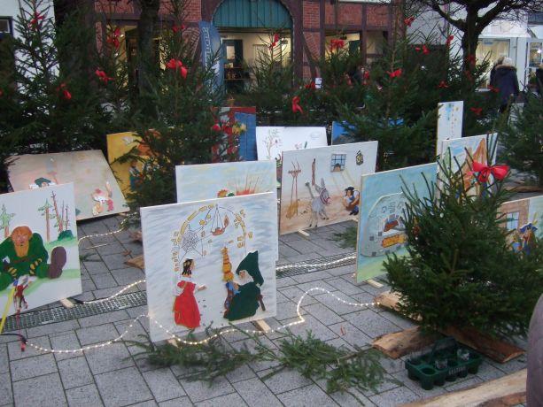 Ein Märchenwald hat in diesem Jahr den Nikolausmarkt bereichert.