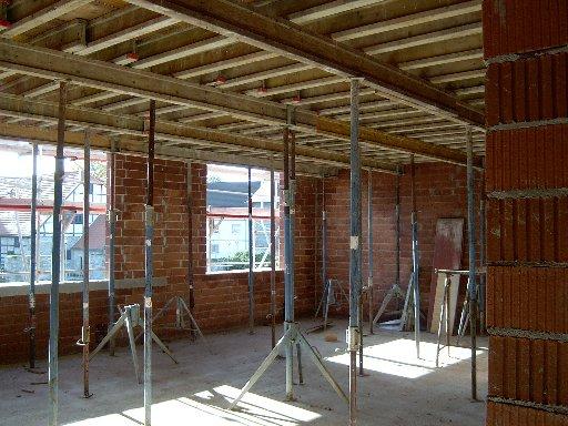 Hier kann man einen Blick in das zukünftige Lehrerzimmer werfen.